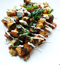 A Profound Hatred of Meat: Garden Vegetable Hash with Tempeh & Chive Cream