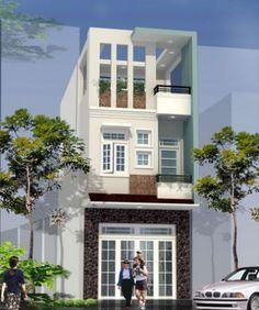 Mẫu thiết kế nhà phố đẹp phong cách hiện đại -> Phối cảnh 2