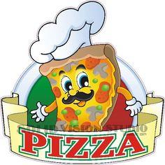 "24"" Pizza Concession Trailer Fast Food Truck Restaurant Bar Vinyl Sign Decal  #SolidVisionStudio"