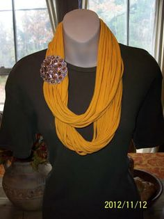 FanScape Trudi V. scarves from tee shirts
