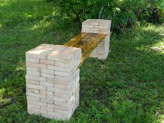 DIY   Making a Stone and Wood Bench Quickly and Easily