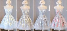 Junior Cute Sleeveless Clairvoyant Outfit Keyhole Lace Up Back Organza Full Appliques Homecoming Prom Dress,BD0133