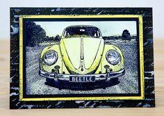 Card by Rachel Greig using Darkroom Door VW Beetle Photo Stamp