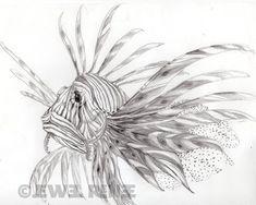 Bildresultat för lionfish tattoo