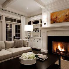 Grey & white living room