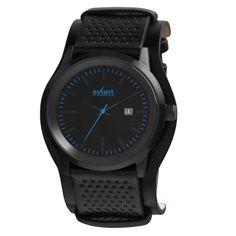 Reloj Axcent modelo Lifetime Negro, Esfera negra y turquesa, correa de cuero antialérgico negro y cierre de hebilla.  http://www.tutunca.es/reloj-lifetime-negro-y-azul