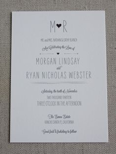 Hearts and Arrows wedding suite by Posh Paperie.