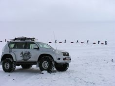 Arctic Trucks and Cross country skiers in Iceland