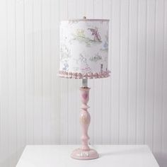 Pink Nursery Rhyme Lamp with Shade
