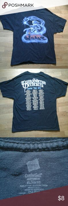 """Unisex Trans-Siberian Orchestra Tee Shirt A cozy black band tee. It has been worn very little and has no defects.  Chest= 42"""" Length= 29"""" Hanes Shirts Tees - Short Sleeve"""