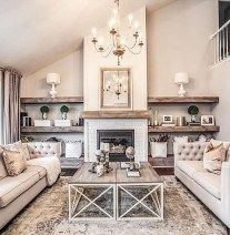 Gorgeous Small Fireplace Makeover Ideas 25