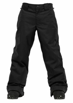 New Burton Boys TWC Such a Deal Snowboard Pants Large True Black