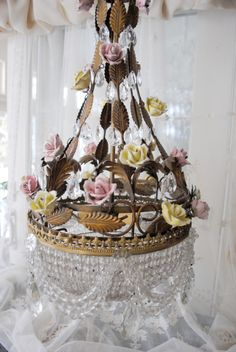 Antique French beaded chandelier from Lenouveaurose.com
