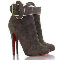 Christian Louboutin Trottinette Ankle Boots 140mm Brown