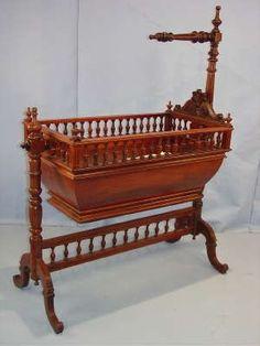 Pics of Baby cradles antique için resim sonucu - Babycradle Baby Cradle Swing, Baby Cradle Wooden, Cradles And Bassinets, Baby Cradles, Baby Bassinet, Baby Cribs, Victorian Furniture, Antique Furniture, Baby Furniture