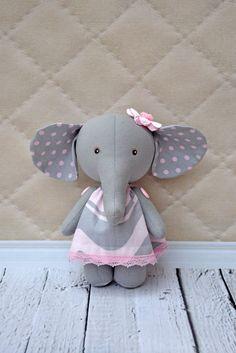 Elefante de textiles trapo del elefante elefante de juguete