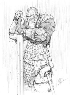 Warrior Sketch by Max-Dunbar on DeviantArt