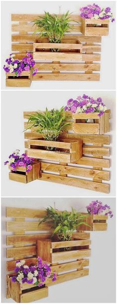 Home-built pallet furniture thoughts as well as how to make your own home furnishings out of pallets, use recycled pallet woodland to create future work of genius! Pallet Patio Furniture, Reclaimed Wood Furniture, Pallet Wall Decor, Pallet Fence, Garden Furniture, Furniture Ideas, Diy Planter Box, Wood Planters, Recycled Pallets