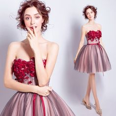 Only $118.99, Prom Dresses Red Ball-gown Sweetheart Short Tulle Formal Dress With Flowers #TJ094 at #GemGrace. View more special Special Occasion Dresses,Prom Dresses,Homecoming Dresses,Wedding Reception Dresses now? GemGrace is a solution for those who want to buy delicate gowns with affordable prices. Free shipping, 2018 new arrivals, shop now to get $10 off!