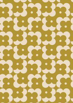 ORLA KIELY - FLOWER SHADOW DOT - OLIVE