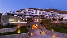 SANTA MARINA RESORT & VILLAS Mykonos, Greece: Only 3km from the cosmopolitan town of Mykonos, Santa Marina Resort & Villas offers the ultimate lifestyle experience with a selection of 101 luxurious rooms, suites and 11 villas with pool, 4 tantalizing restaurants and an exclusive private beach. #UltimateLifestyle #PrivateBeach #Greece