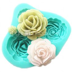4 Roses Silicone Cake Mold Baking Tools Kitchen Accessories Fondant Chocolate Mould Sugarcraft Decoration Tools - USD $3.99