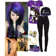 """""""emo to"""" by scenefreak117 on Polyvore"""