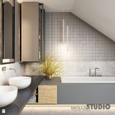 loftowa łazienka - zdjęcie od MIKOŁAJSKAstudio - Łazienka - Styl Eklektyczny - MIKOŁAJSKAstudio