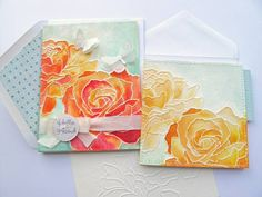 Distress Watercolor Dry Embossing cards by stampztoomuch...absolutely gorgeous!!!luv, luv, luv...