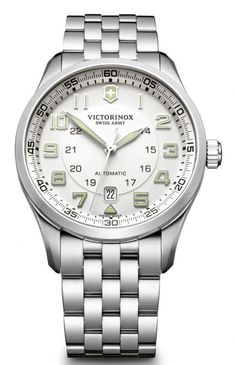 Victorinox Swiss Army Watch AirBoss Mechanical #bezel-fixed #bracelet-strap-steel #brand-victorinox-swiss-army #case-material-steel #case-width-42mm #classic #date-yes #delivery-timescale-call-us #dial-colour-silver #gender-mens #movement-automatic #official-stockist-for-victorinox-swiss-army-watches #packaging-victorinox-swiss-army-watch-packaging #style-sports #subcat-airboss #supplier-model-no-241506 #warranty-victorinox-swiss-army-official-3-year-guarantee #water-resistant-100m