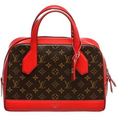 Louis Vuitton Pre-owned Louis Vuitton Satchel ($2,795) ❤ liked on Polyvore featuring bags, handbags, apparel & accessories, satchels, wallets & cases, purse, brown leather satchel, leather handbags and real leather handbags