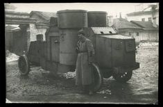 "bmashina: ""Red army soldier at the armored car ""Austin"" """
