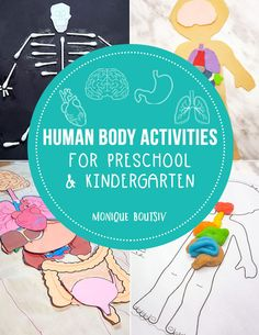 Fun and engaging human body activities for early learners that will get your child interested in learning about the human body. Includes fun printables and hands-on activities for preschool and kindergarten students. Kindergarten Science Activities, Homeschool Science Curriculum, Preschool Learning, Early Learning, Fun Learning, Learning Activities, Homeschooling, Kindergarten Worksheets, English Activities