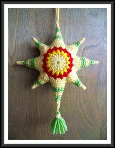 Sunburst star pattern