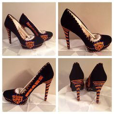 Custom heels, Chicago Bears  heels , Bears bling heels, Chicago Bears  rhinestone heels , free shipping, Black Friday  on Etsy, $140.00