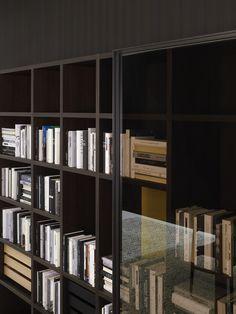 Bibliothèque ouverte en bois SYSTEM 2012 Collection System by Porro