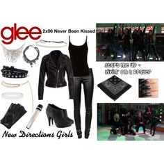 """""""New Directions Girls (Glee) : Start Me Up / Livin' on a Prayer"""" by aure26 on Polyvore"""