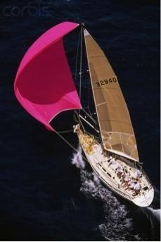 A pink spinnaker! What's not to love!