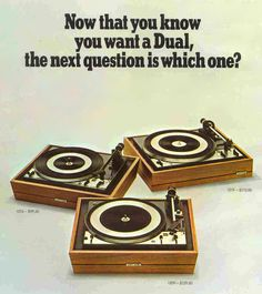 Vintage ad for Dual turntables