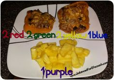 #21DayFix Dinner:  Stuffed peppers and pineapple