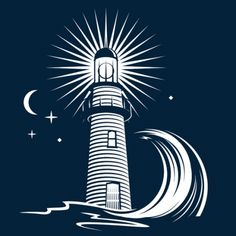 set of lighthouse vector