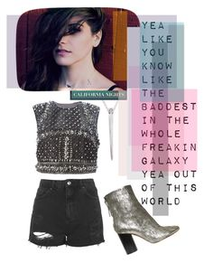 """""""YEA LIKE YOU KNOW"""" by sfree ❤ liked on Polyvore featuring Topshop, Alberta Ferretti and Isabel Marant"""