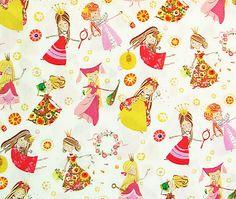 Fair Maidens Natural Cotton Fabric, Alexander Henry