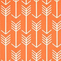 Arrow Apache Orange Macon Printed Drapery Fabric by Premier Prints