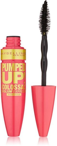 Maybelline New York Volum' Express Pumped Up Colossal Washable Mascara, Classic Black [216] 0.32 oz (Pack of 12). Product of Maybelline. Pack of 12.