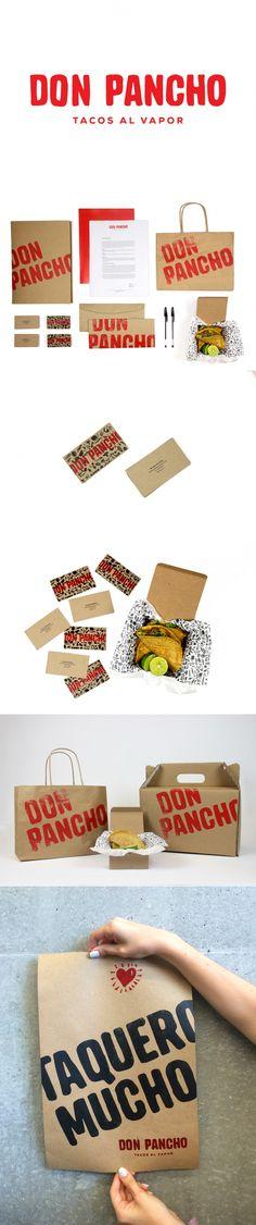 Don Pancho Tacos Branding by Regina Kaun | Fivestar Branding Agency – Design and Branding Agency & Curated Inspiration Gallery #tacos #food #branding #businesscards #foodbranding #packaging #brandinginspiration #behance #dribbble #pinterest #fivestarbranding