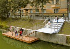Pier at the Grain bridge - C, Poljanski nasip - Ljubljana, Slovenia - BB ARHITEKTI