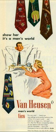 Enséñale que es un mundo de hombres. 1960s
