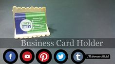 See it, Plan it, Build it, and Use it  Hello friends my name is Hassam. I hope you all are find and good this awesome video teach you DIY-How To Make A Business Card Holder/Stand  Our Requirements Material is  1)Cloth Clip 2)Strong glue  Hope you enjoy is video don't forget to subscribe for more new interesting videos   Please support your channel  Please click subscribe Button😇😇   How to check tv Remote control cells-Make Easy https://youtu.be/p-7iKlORQCQ  How to Make -Free…