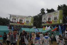 Spandoeken in De Hoge Rielen voor een van de voorbije Herfstontmoetingen van Scouts en Gidsen Vlaanderen.